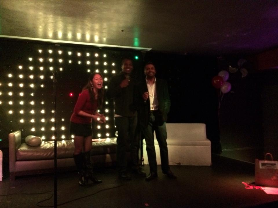 Impromptu hosting at V Lounge, Santa Monica Photo Credit: Bally Randhawa